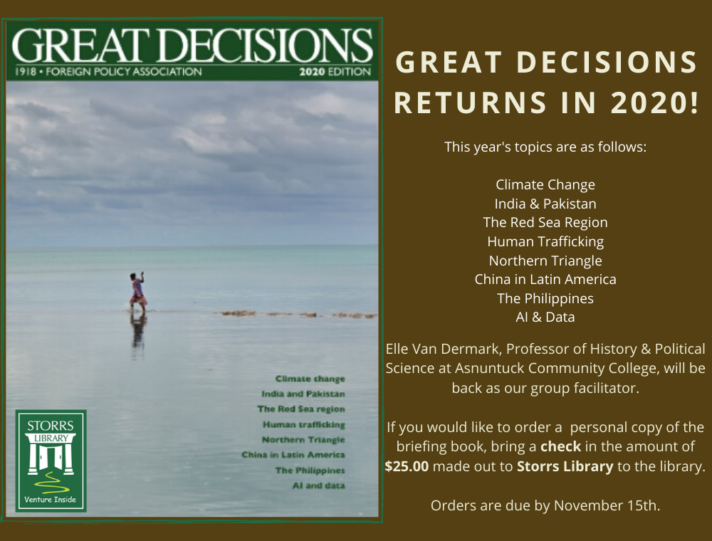 Great Decisions Returns In 2020