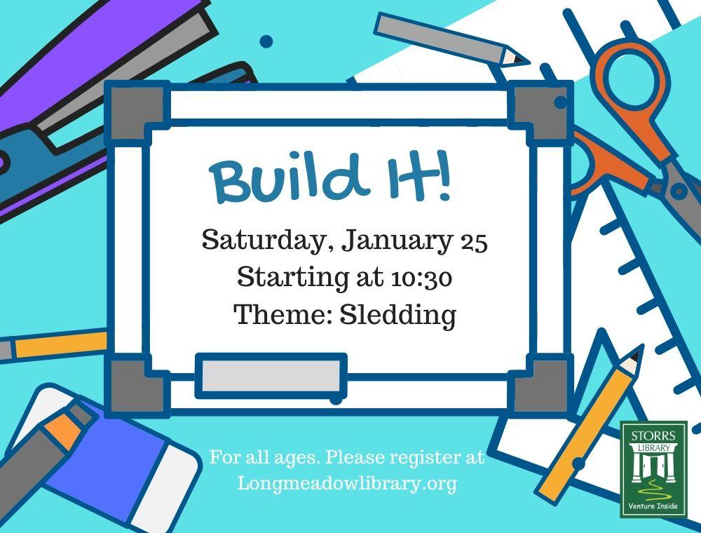 Flyer for Build It Sledding