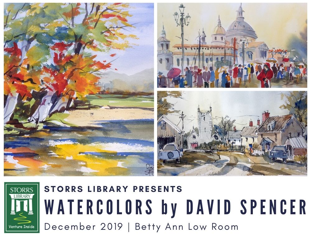 Flyer For Watercolors By David Spencer