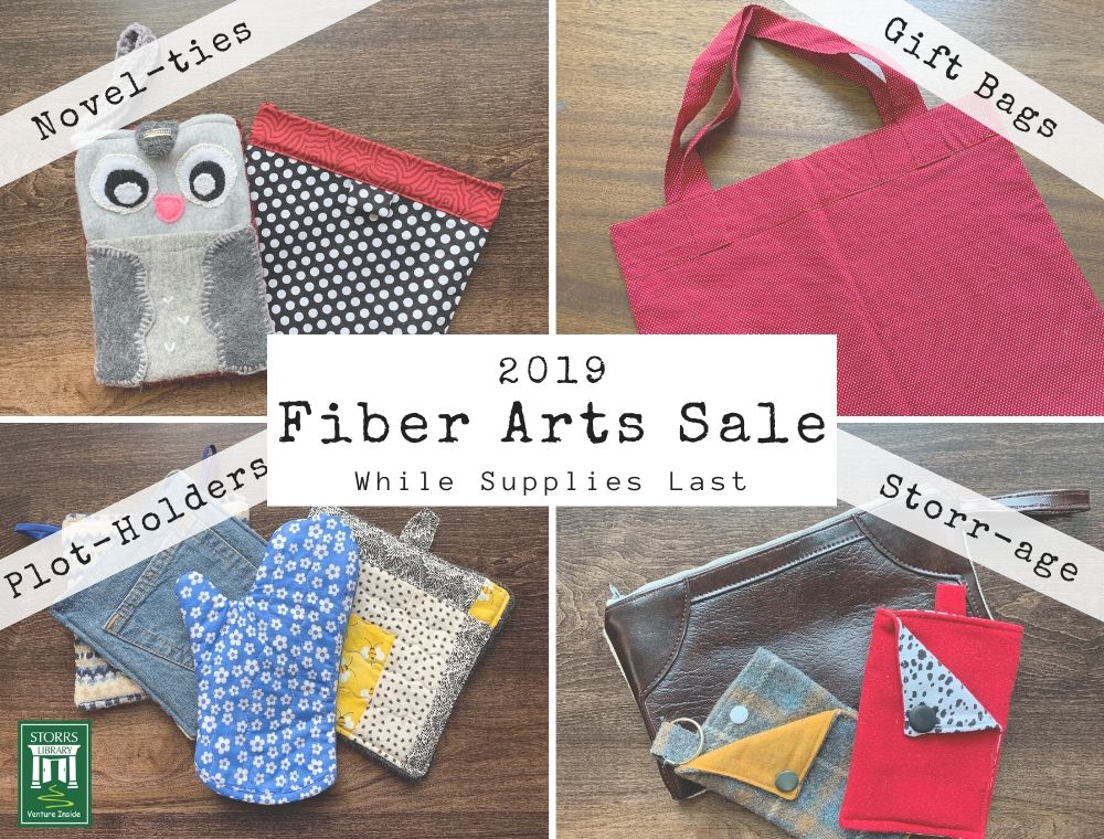 Flyer For Fiber Arts Sale