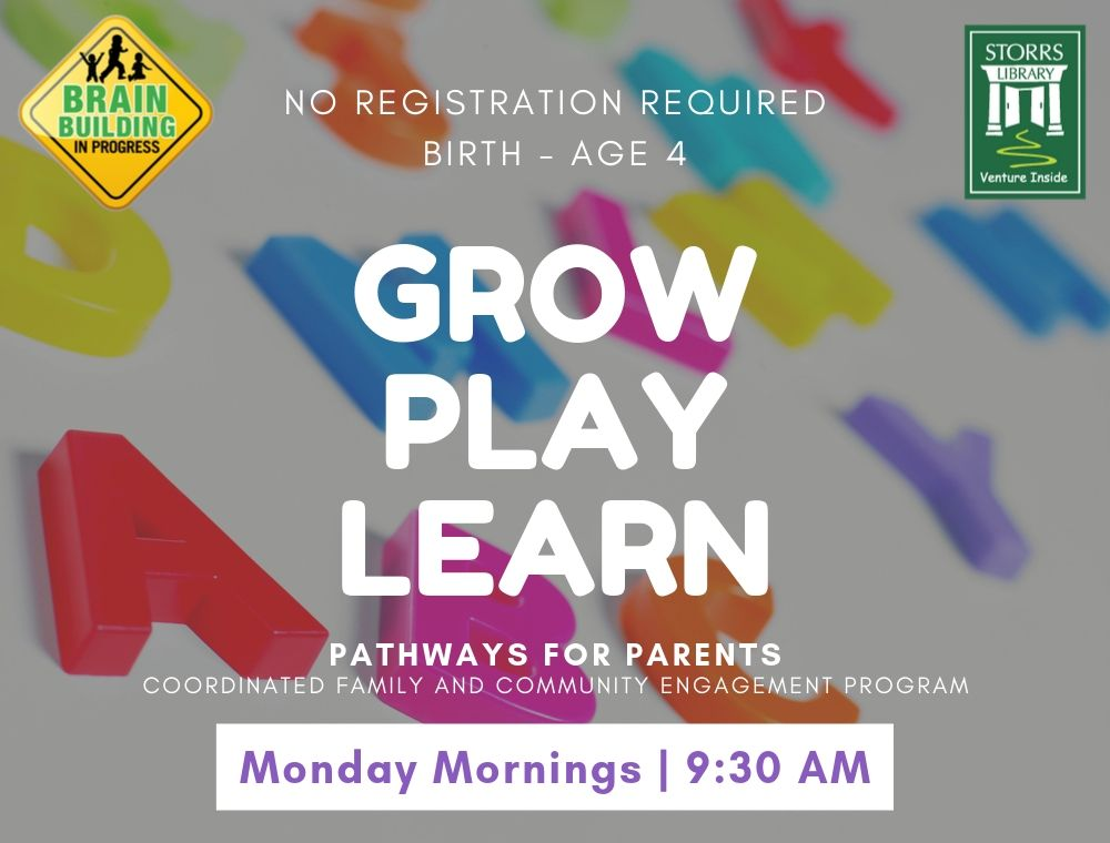 Flyer for Grow Play Learn Birth to 4 years