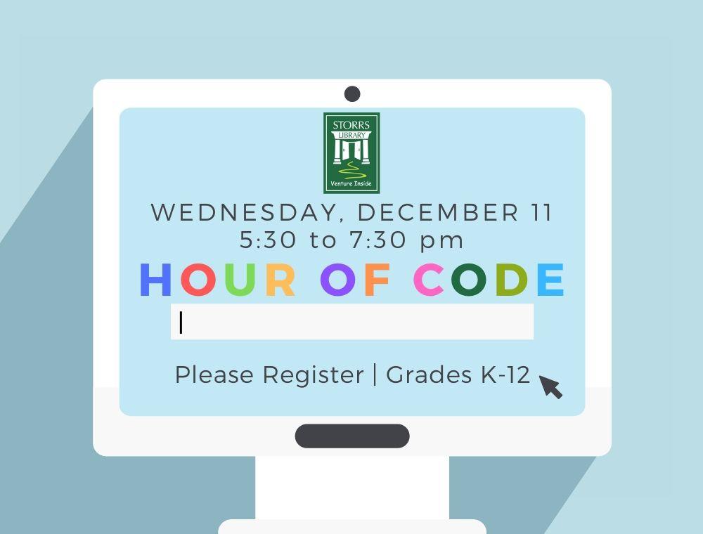 Flyer for Hour of Code program