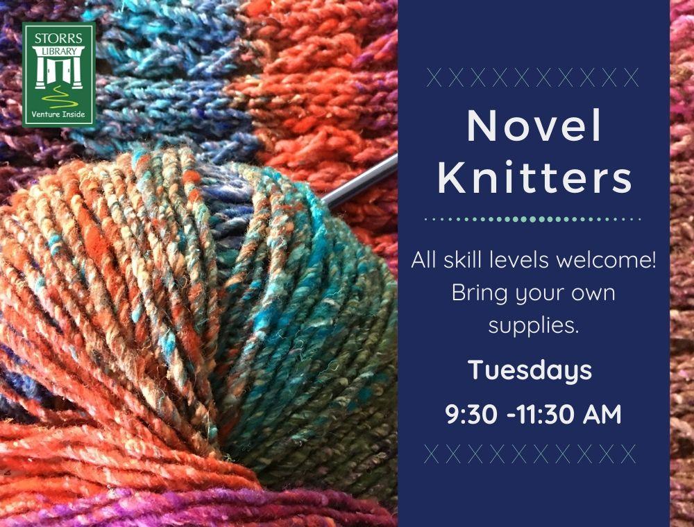 Flyer For: Novel Knitters