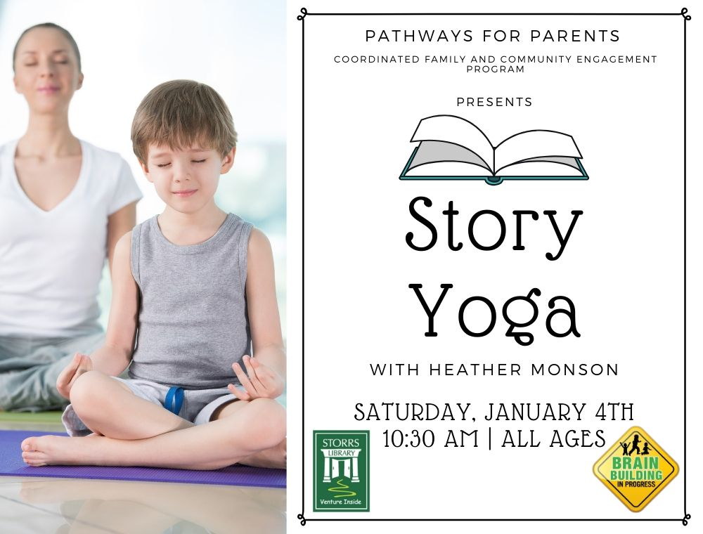Flyer for Story Yoga