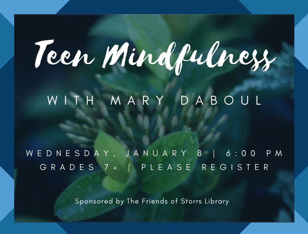 Flyer for Teen Mindfulness