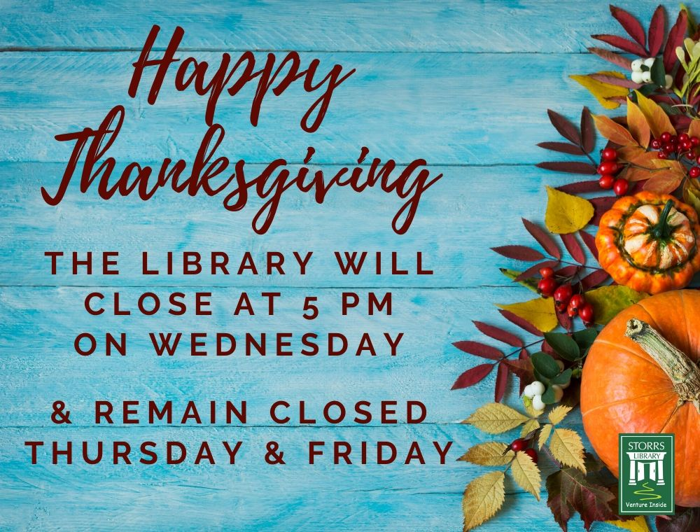 Flyer For Closed for Thanksgiving