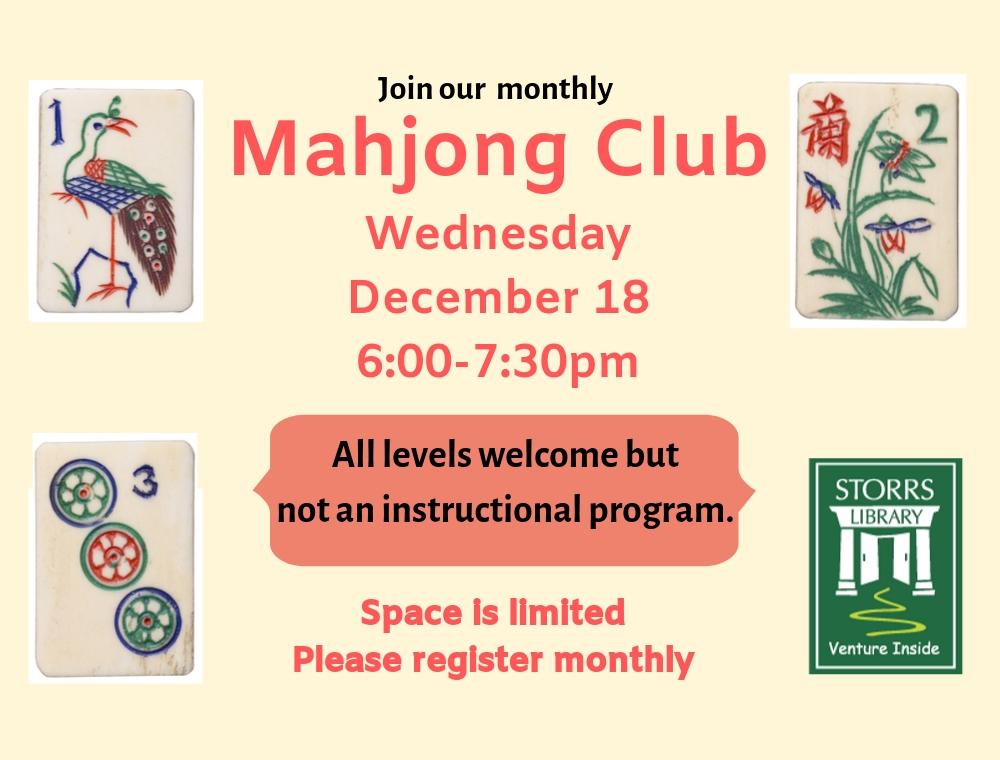 Mahjong Club Dec 18