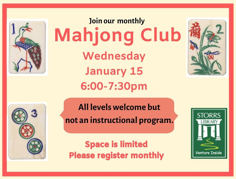 Mahjong Club Jan 15