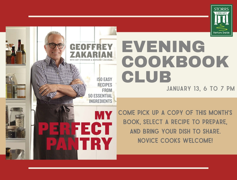 Flyer for Evening Cookbook Club