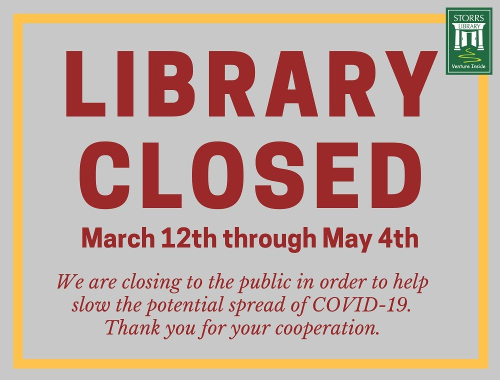 Storrs Library Closed To Limit Potential Spread Of COVID-19