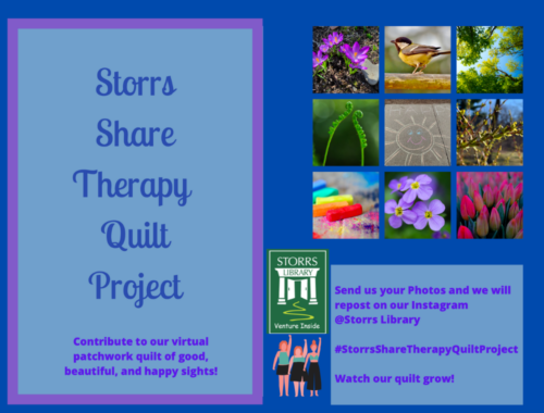 Storrs Share Therapy Quilt Project Flyer