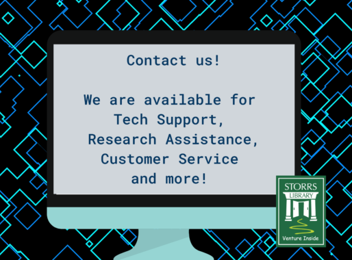 Flyer Reads: Contact Us! We Are Available For Tech Support, Research Assistance, Customer Service And More!