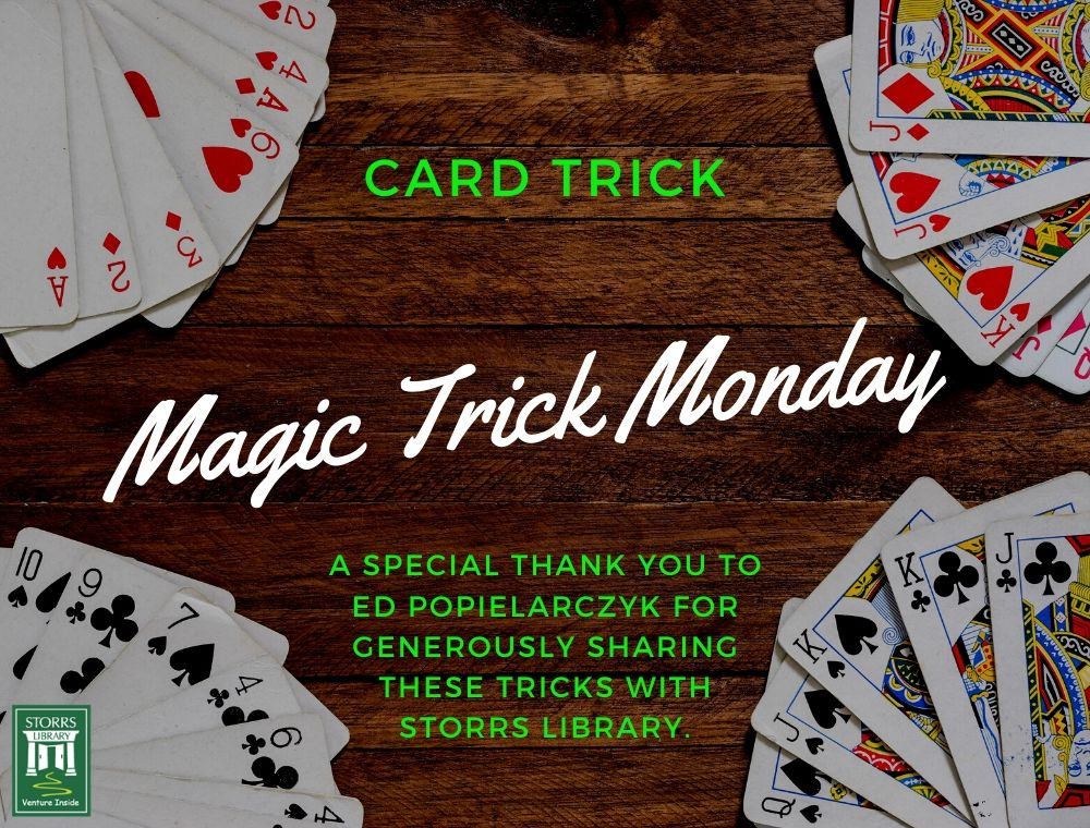 Flyer for Magic Trick Monday Card Trick