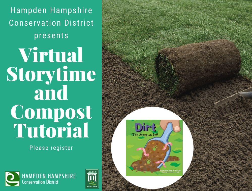 Flyer for Hampden Hampshire Conservation District Storytime and Composting