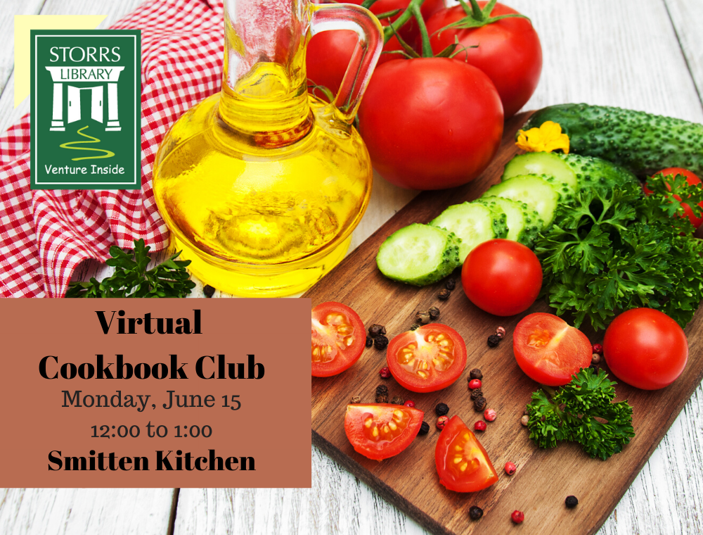 Flyer for June Virtual Cookbook Club