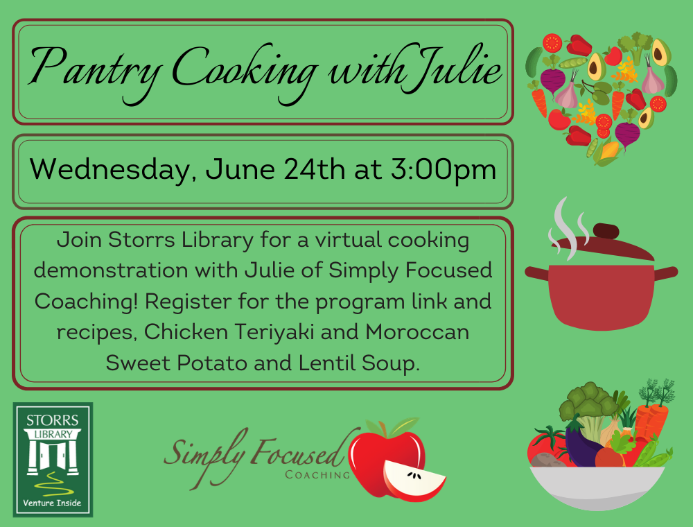 Flyer for Pantry Cooking with Julie