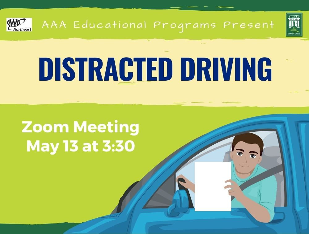 Flyer for Virtual AAA Distracted Driving