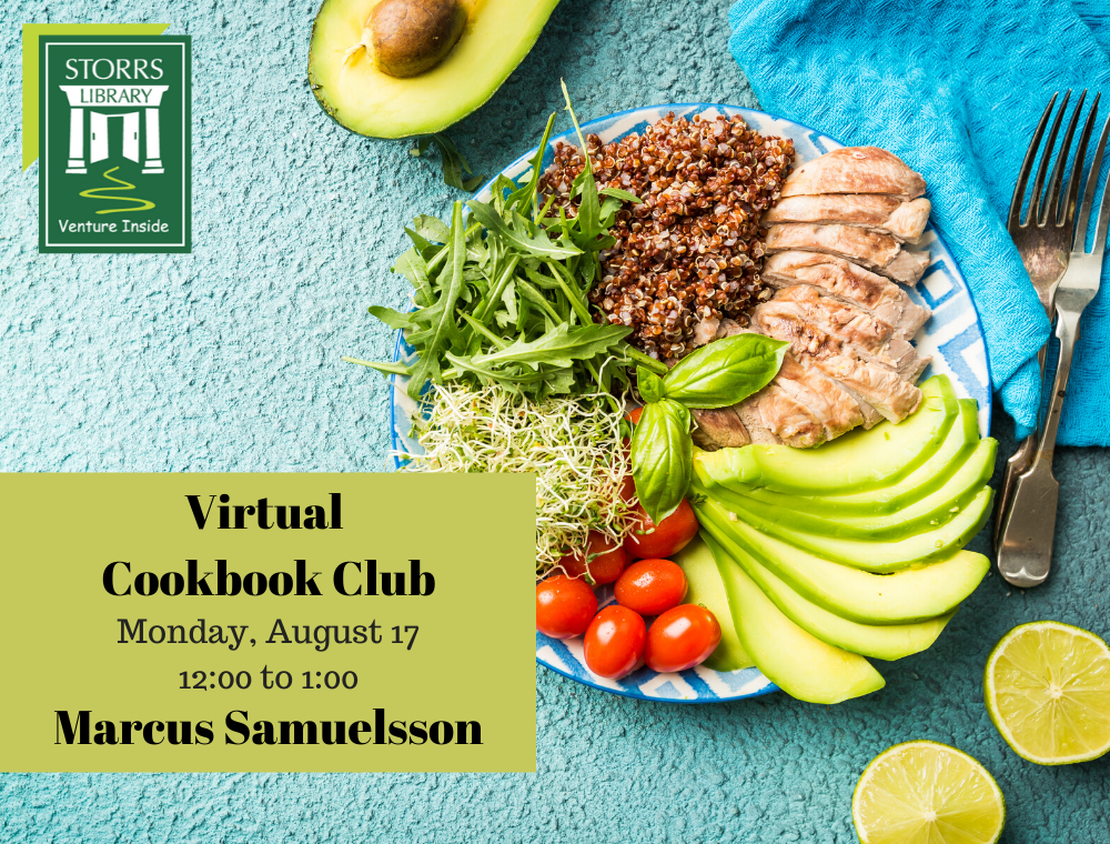 Flyer for August Virtual Cookbook Club