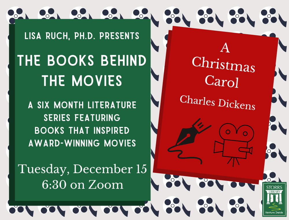 Flyer for December session of Lisa Ruch Presents The Books Behind the Movies
