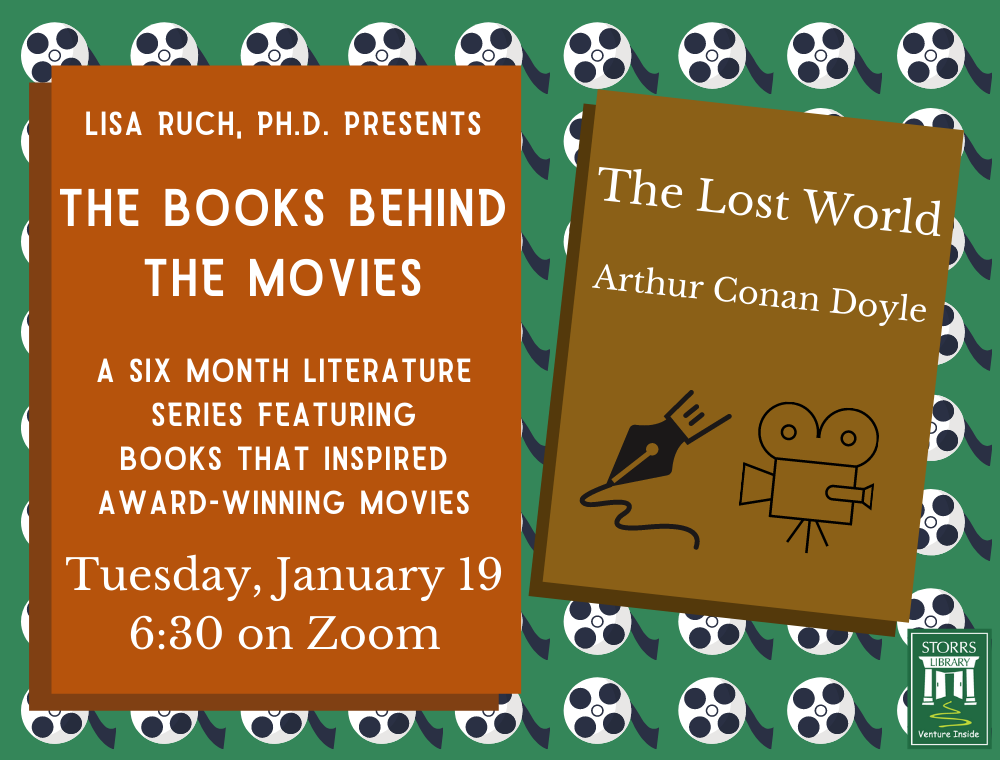 Flyer for January session of Lisa Ruch Presents The Books Behind the Movies