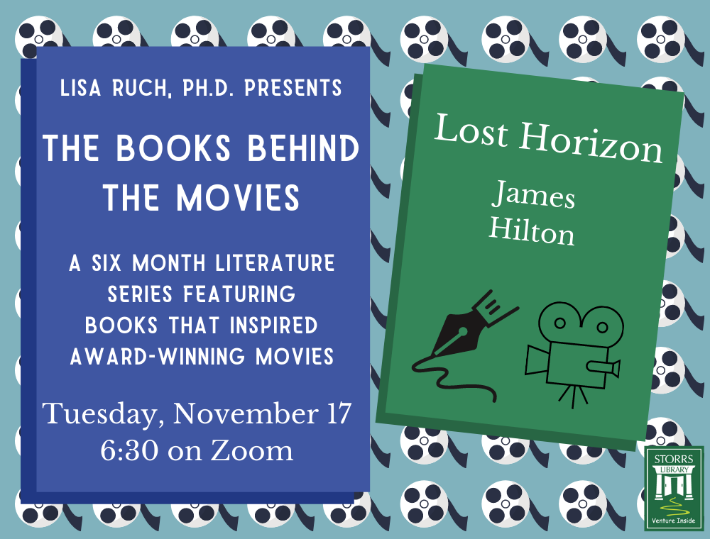 Flyer for November session of Lisa Ruch Presents The Books Behind the Movies