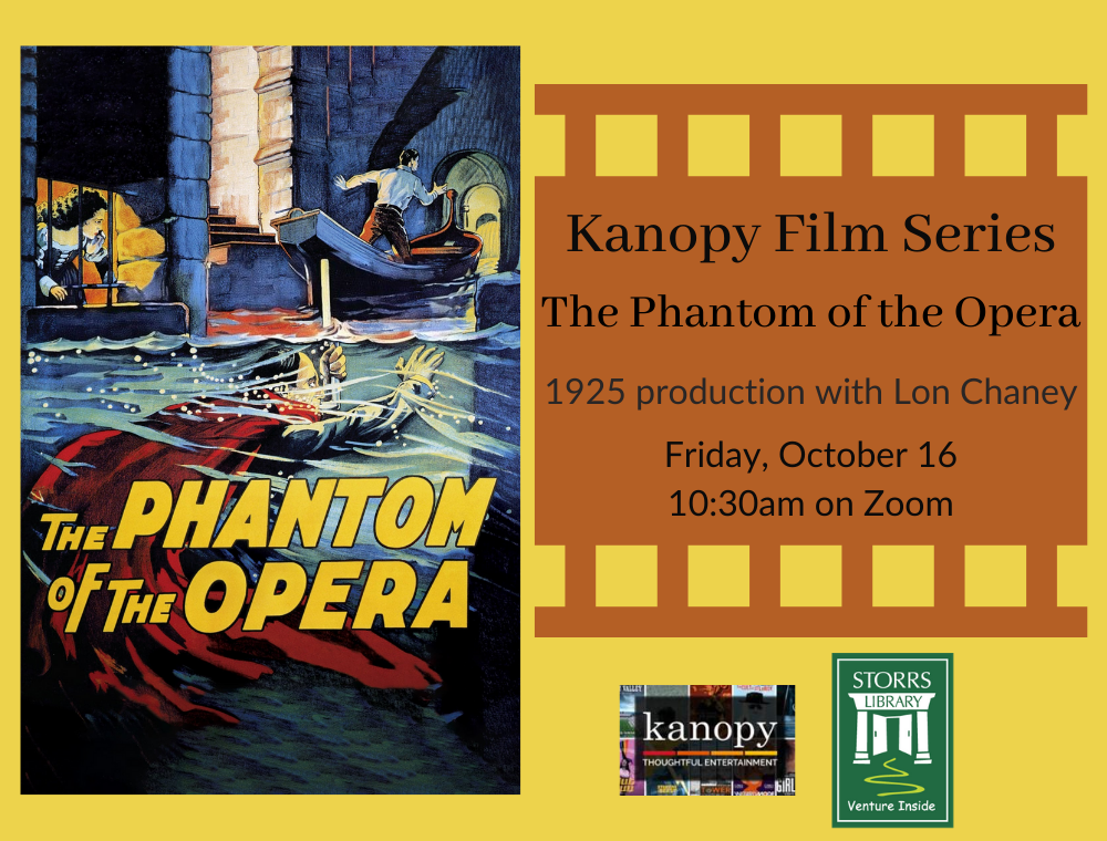 Flyer for October Kanopy Film Series