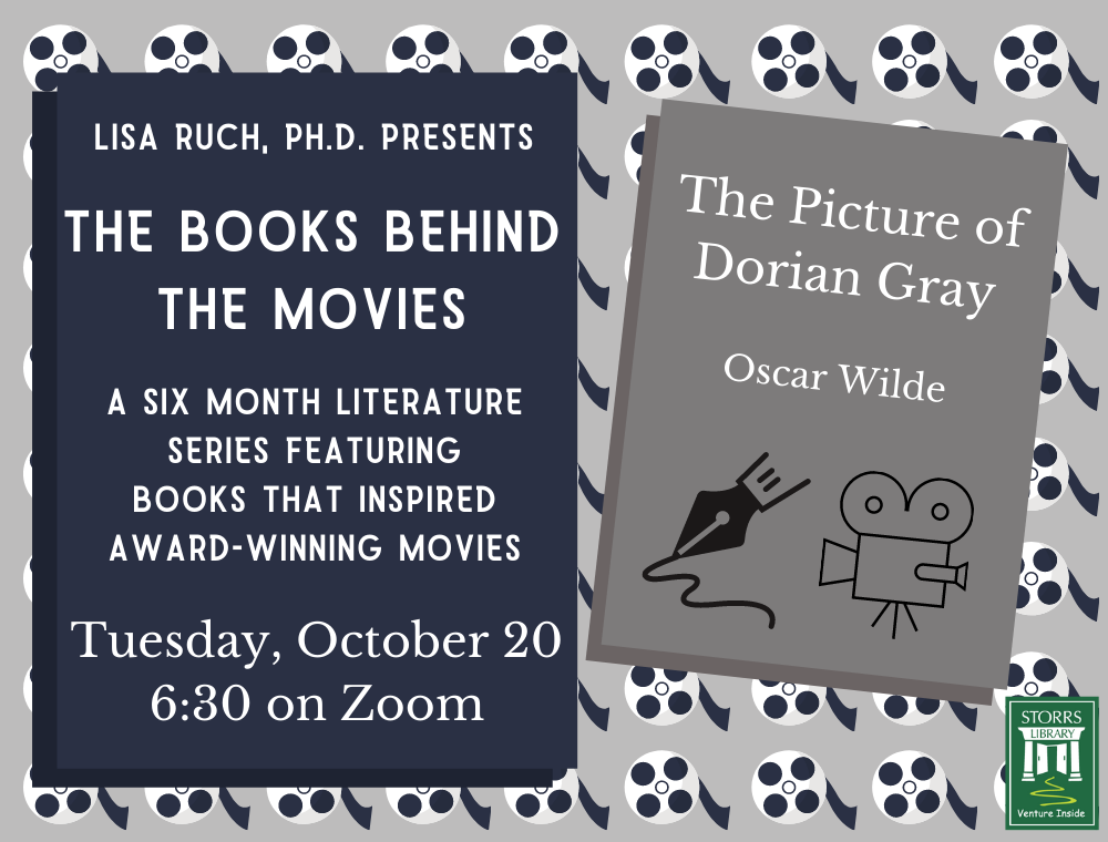 Flyer for October session of Lisa Ruch Presents The Books Behind the Movies