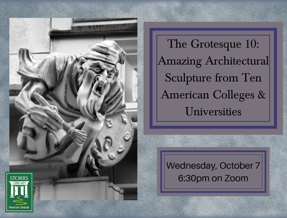 Flyer for The Grotesque 10 Amazing Architectural Sculpture from Ten American Colleges & Universities