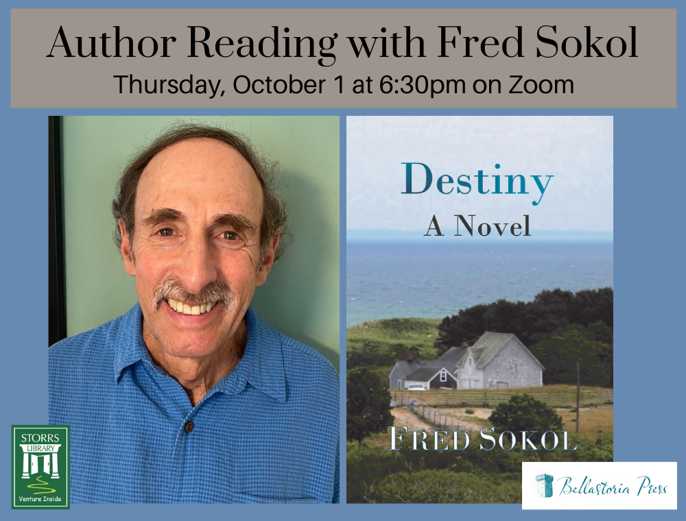 Flyer for Author Reading with Fred Sokol