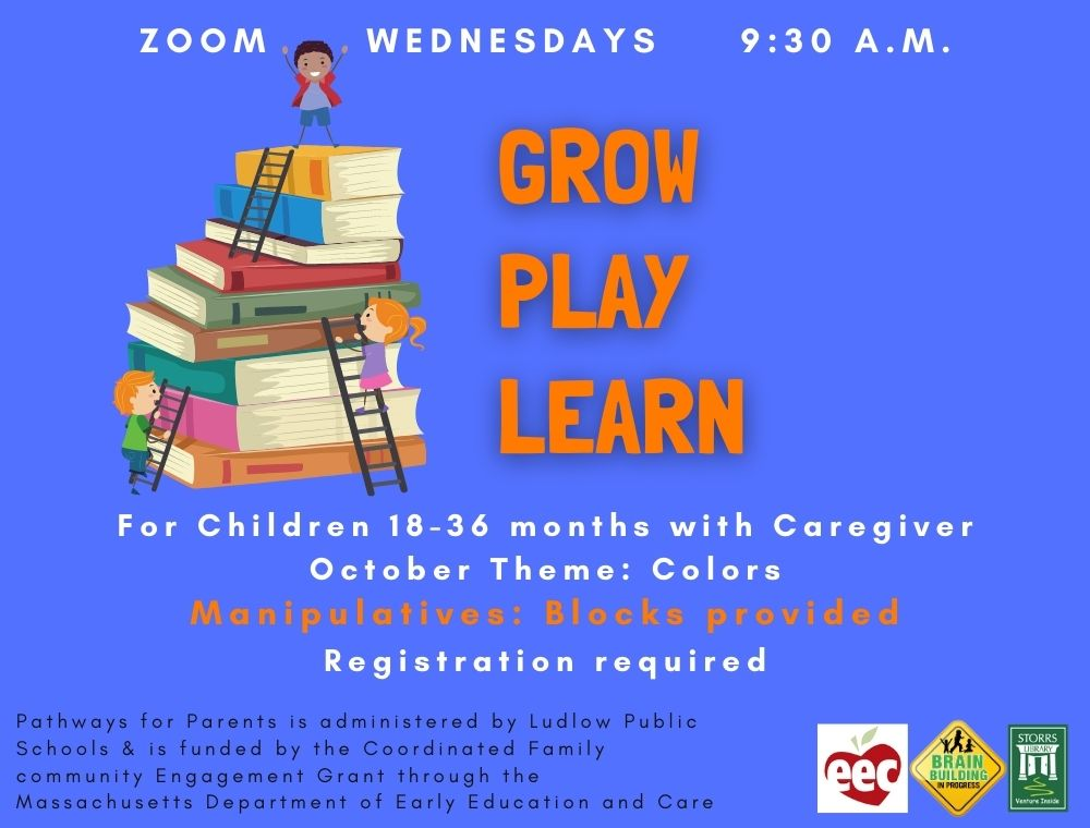 Flyer for Grow Play Learn in October