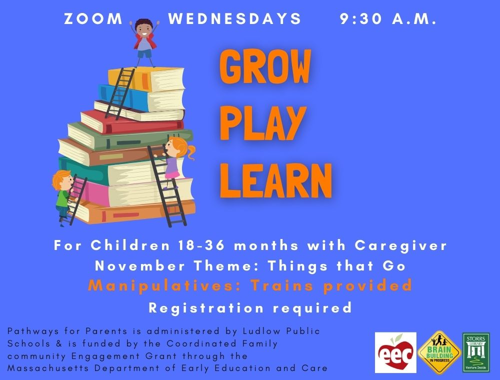 Flyer for Grow Play Learn November