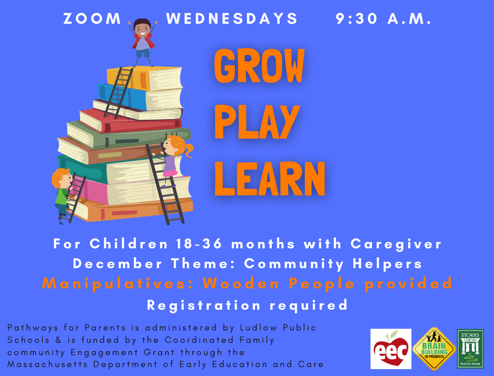 Flyer for Grow Play Learn December