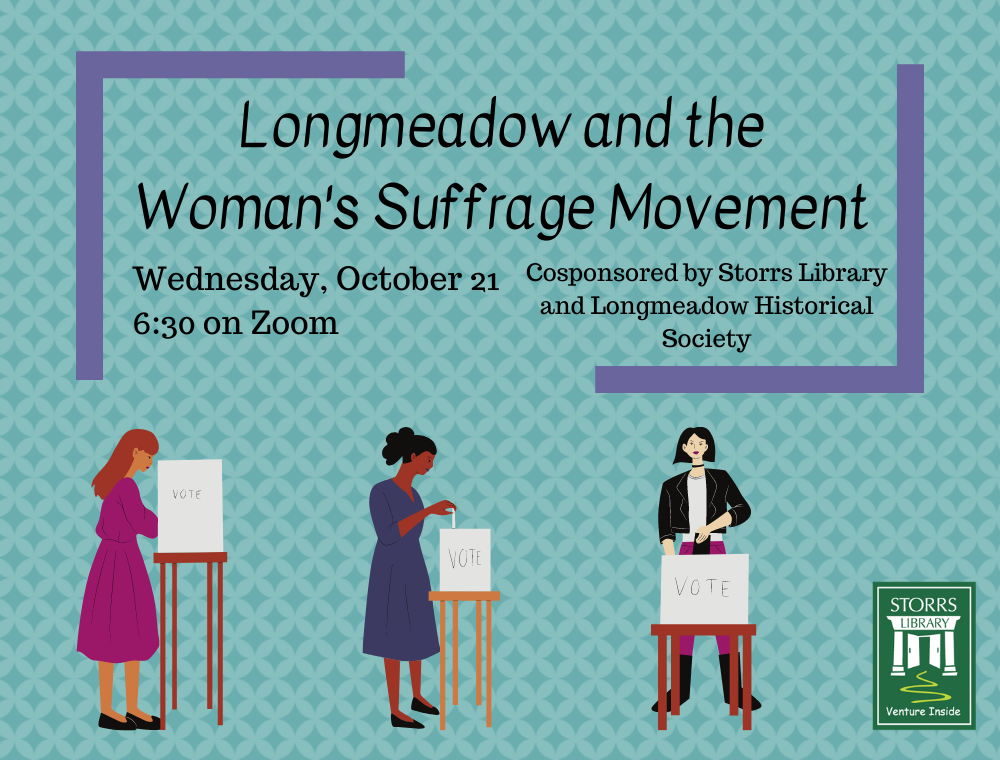 Flyer for Longmeadow and the Woman's Suffrage Movement