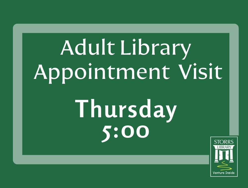 Adult Appointment Thursday 5:00