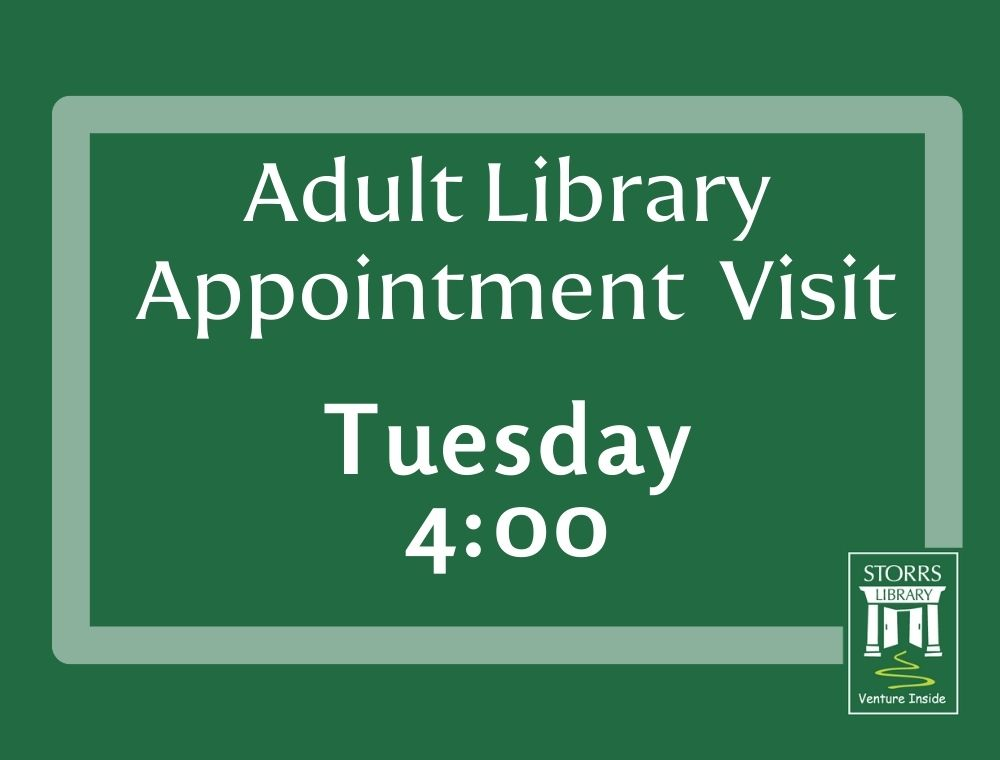 Adult Appointment Visit Tuesday 4:00 flyer