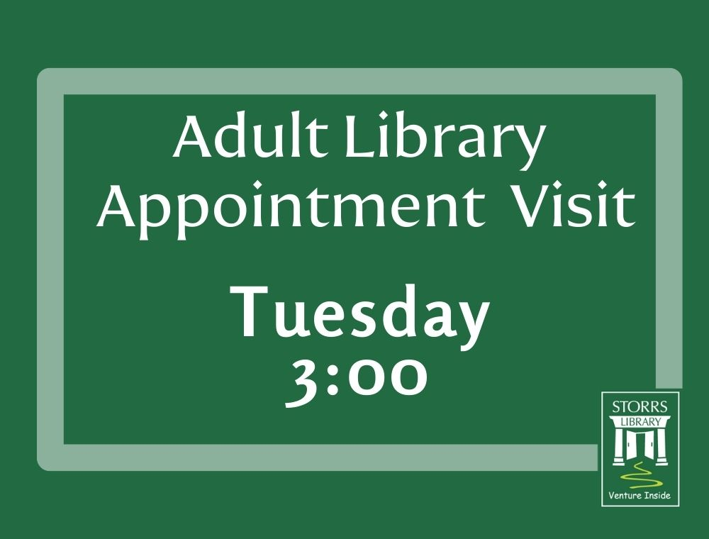 Adult Library Appointment Visit 3:00pm