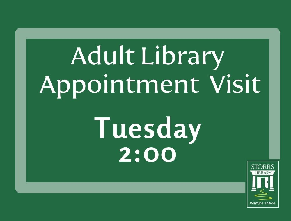 Adult appointment Tuesday 2:00 flyer