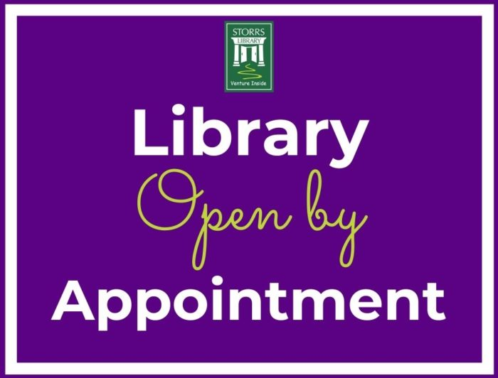 Flyer For Library Open By Appointment