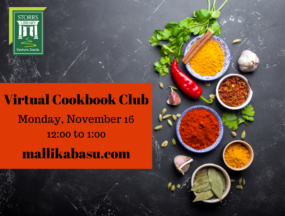 Flyer for November Virtual Cookbook Club