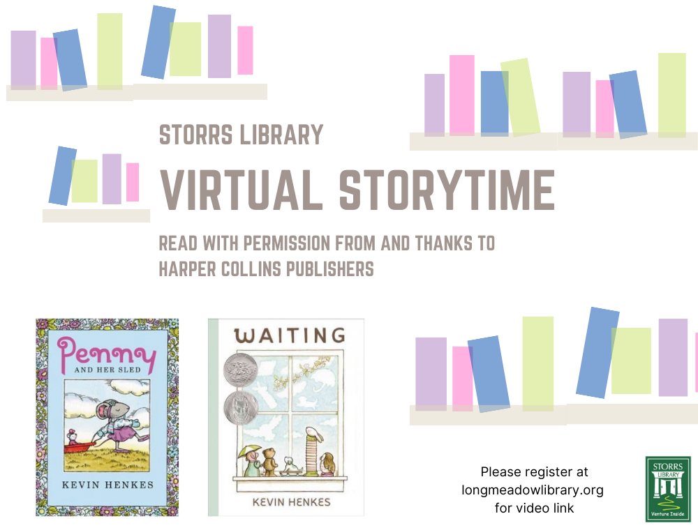 Flyer for Virtual Storytime Penny and Waiting