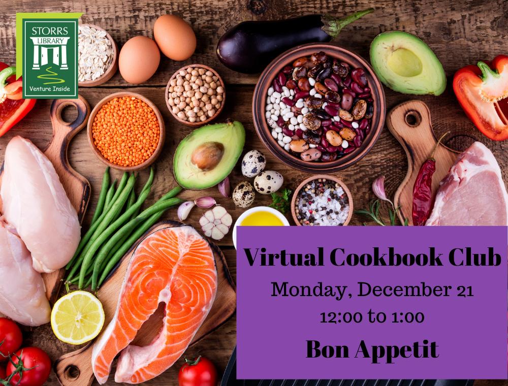 Flyer for December Virtual Cookbook Club