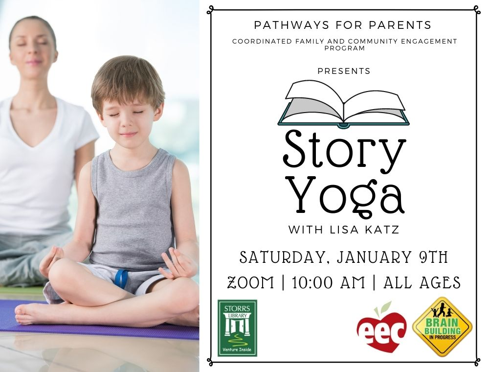 Flyer for Virtual Story Yoga