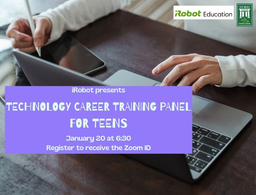 Flyer for Technology Career Panel with iRobot for Teens
