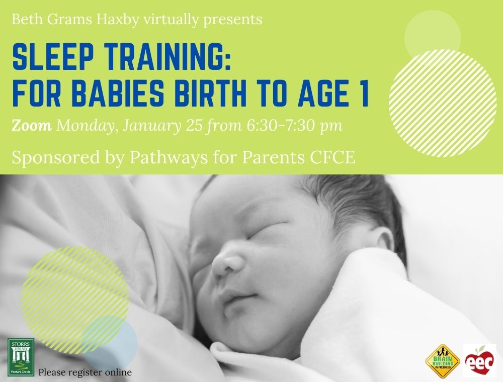Flyer for Sleep Training for Babies