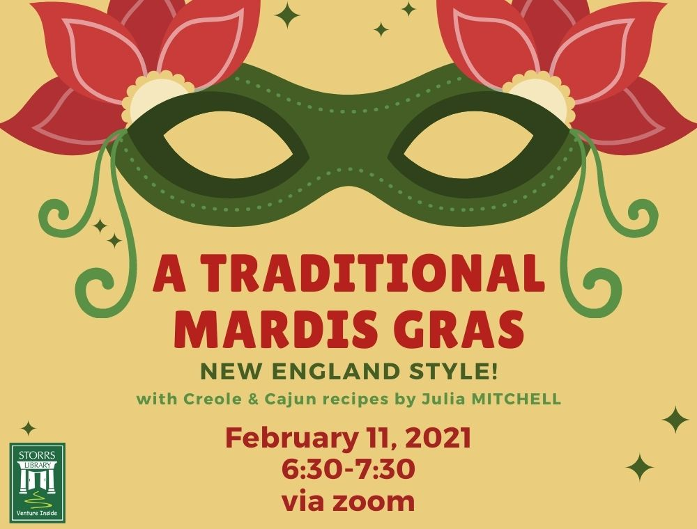 Flyer for A Traditional Mardi Gras—New England Style
