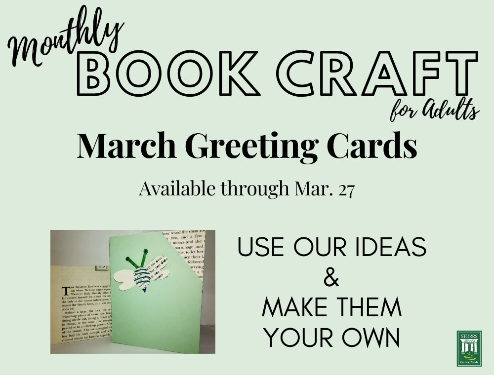 March Adult Book Craft: Greeting Cards