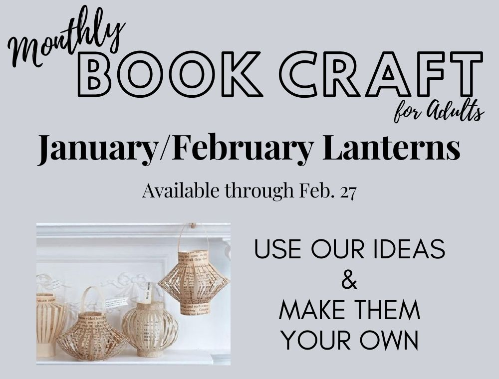 January/February Adult Book Craft: Lanterns