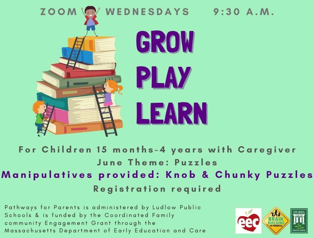Flyer for Grow Play Learn June