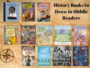 Flyer for History Books to Draw in Middle Readers