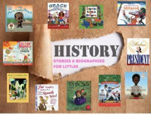 Flyer for History Books for Littles